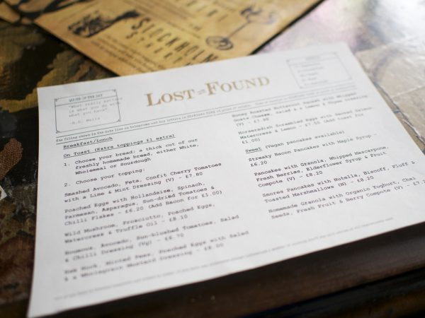 Lost & Found Brunch Menu