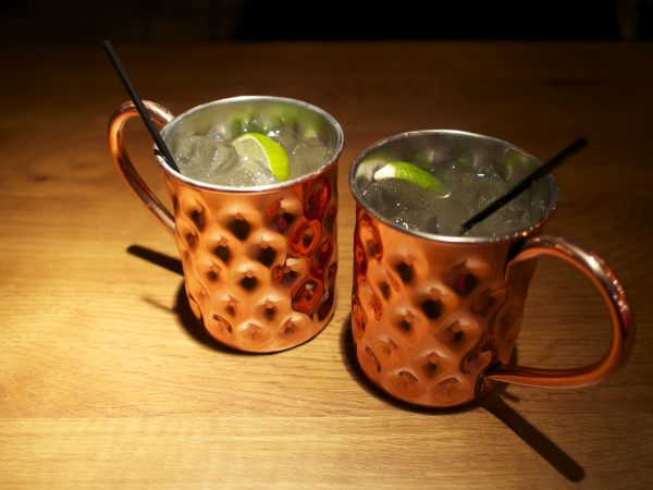 Ginger mule cocktails