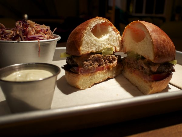 Classic burger with chipotle slaw