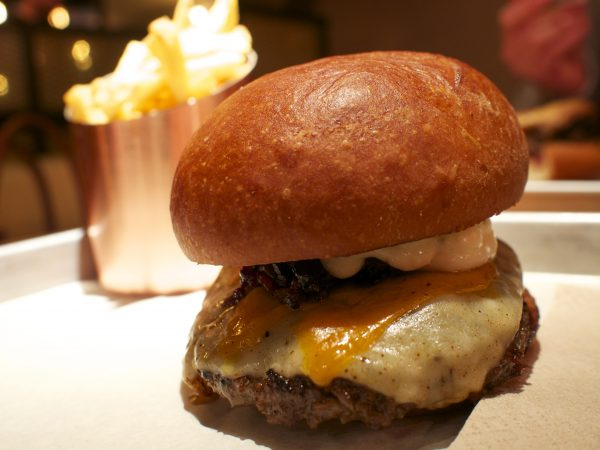 Special Christmas cheese and mushroom burger from BURGER.