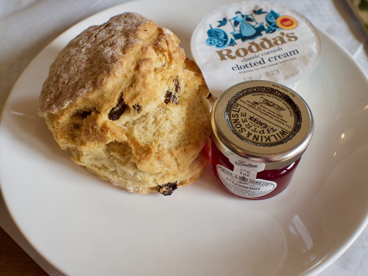 Scone, clotted cream and jam