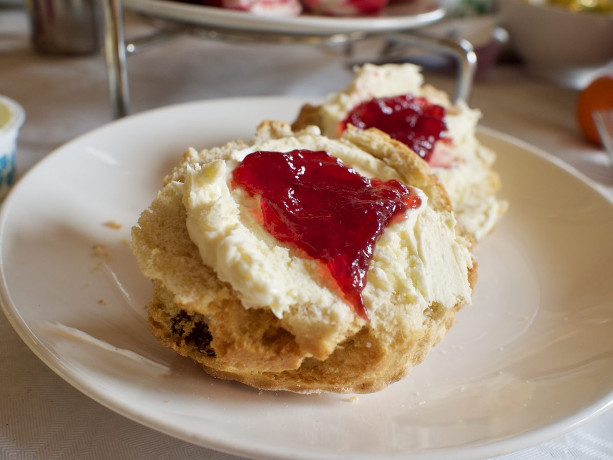 Cream and jam scones